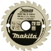 Makita 85x15mm TCT circular Saw Blade for Laminate Cutting - 24 Teeth (B-29430)